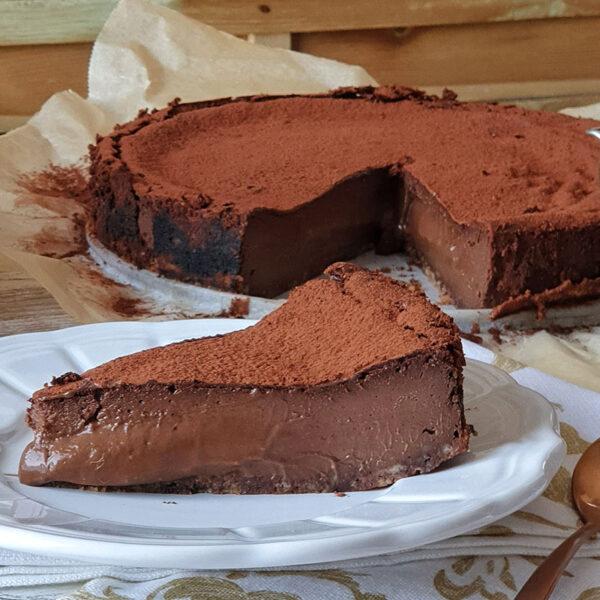 Tarta de chocolate fundente. Mamá Naranja