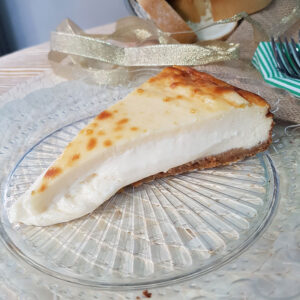 Tarta fundente de queso de Clara Villalón