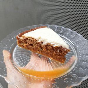 Tarta jugosa de zanahoria y almendra. Mamá Naranja